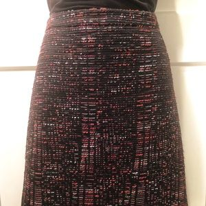 LOFT Multi-colored Textured Skirt